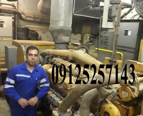 تعمیر دیزل ژنراتور کاترپیلار داخل سکوی نفتی جزیره خارک