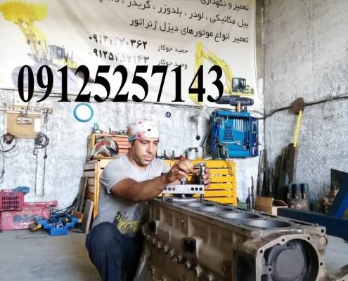 تعمیر موتور کامینز 250 دیزل ژنراتور با ابزارهای به روز
